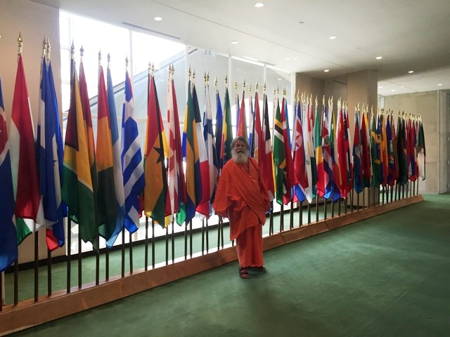 Vishwaguruji at the UN June 2015