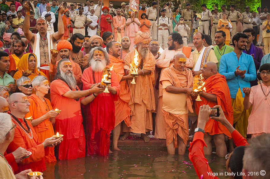 Peace Prayers on the bank of River Kshipra, Ujjain