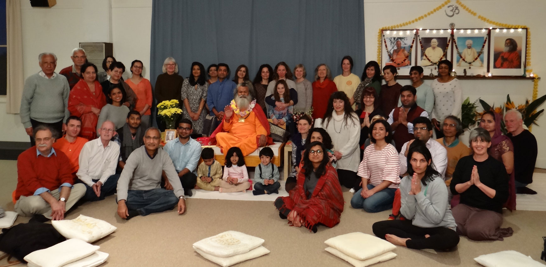 Seminář: Višvaguru Mahéšvaránadna v ášramu v Melbourne