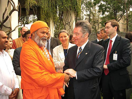 Swamiji meets with Austrian President in India