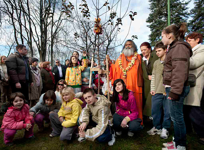 Planting World Peace Tree in Children Village in Novi Sad, Serbia